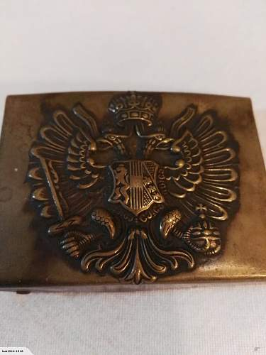 Austro hungarian belt buckle - original?