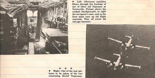 RAAF Neptune retirement 1977 news clippings