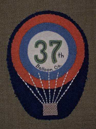 Real US Army Air Service 37th Balloon Co. patch??