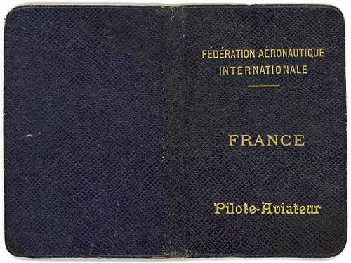 Early french pilots licence