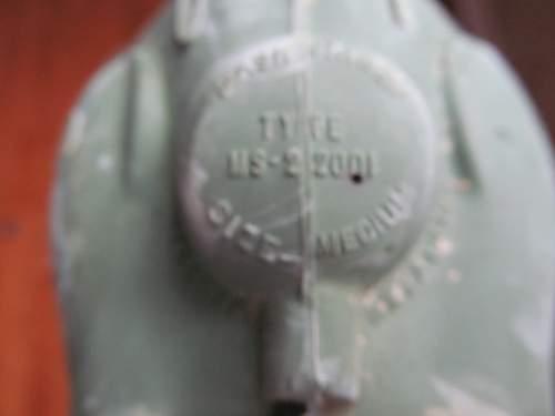 Pilot oxygen mask and suspension 1959