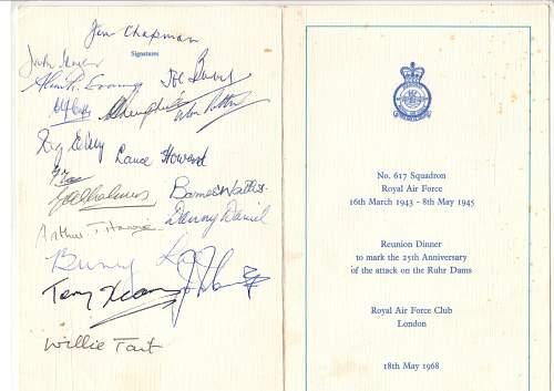 617 Squadron Signatures