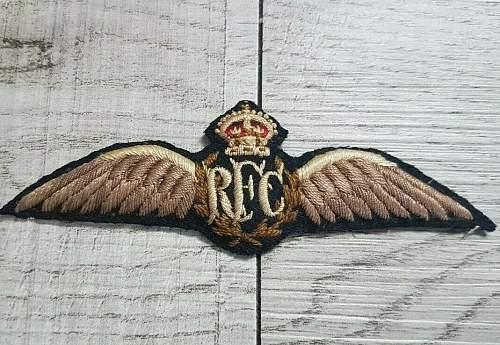 Ww1 rfc  wings fake or real help thank you