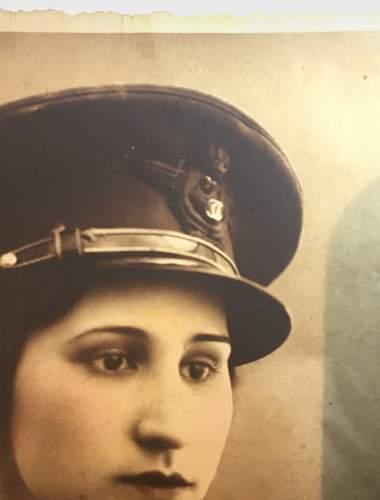 Romanian woman pilot postcard (King Carol II period)