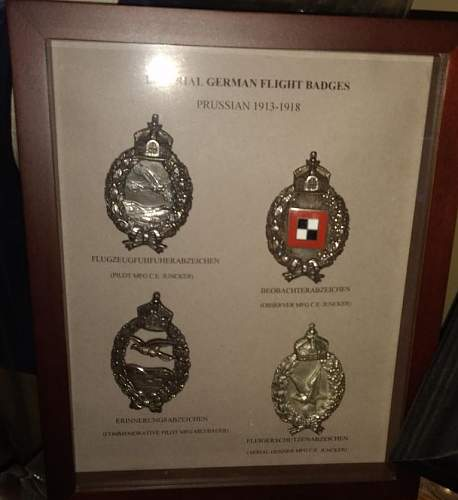 Imperial German Flight Badges