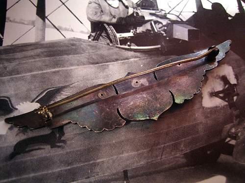 Original WWI Shreve Wing - Up Close
