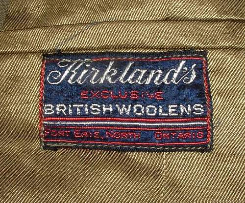 Click image for larger version.  Name:RCAF WO SD Tunic Tailor's Label 1.JPG Views:100 Size:106.8 KB ID:258907