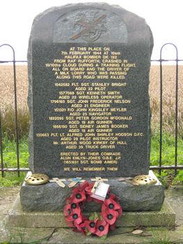 Halifax crash memorial Nr York