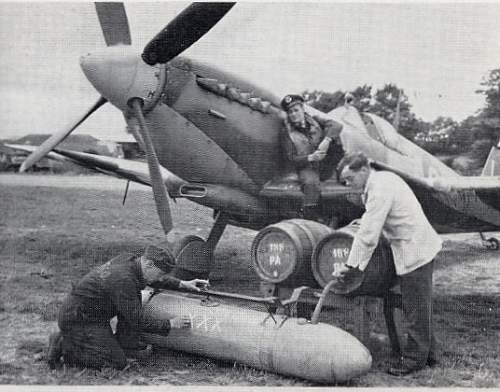 Beer carrying spitfires of world war ii