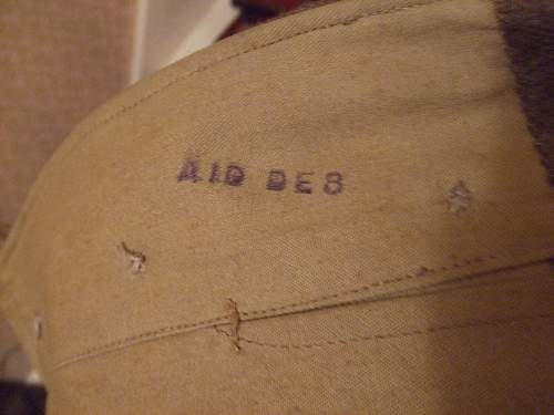 Air Inspection Dept. Markings in British items.