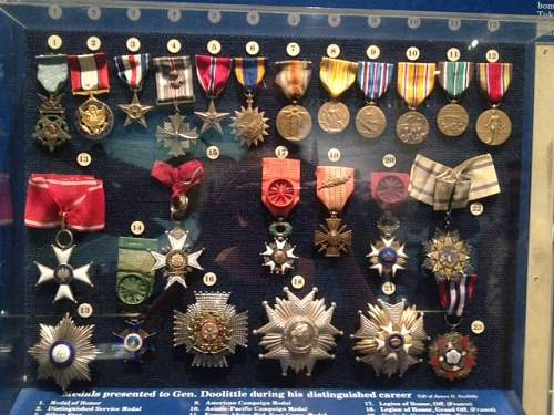 "General ""Jimmy"" Doolittle's medals"