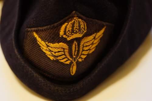 Swedish Air Force Side Cap Help