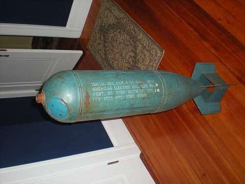 US practice bomb