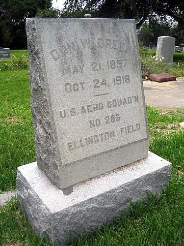 Don W. Greer, Ellington Field 1918, Died-Influenza