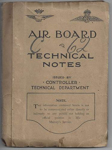 Two Airboard and Technical Notes manuals - includes Spads, Sopwiths and Nieuport aircraft