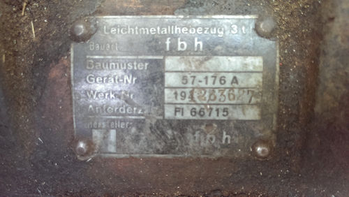Help with Luftwaffe 3 ton hoist