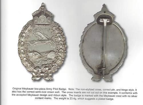 Pilot Badge WW1
