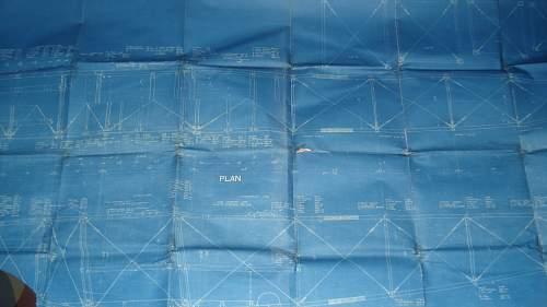 Original WW1 RFC Blue Prints Leaside Canada