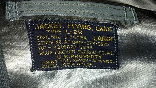 Need help ID'ing this L-2B airforce jacket from the 50's?