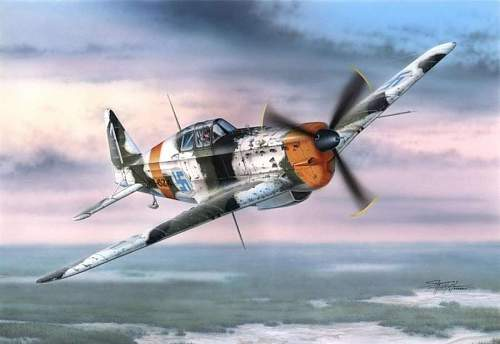 Winter WW2 aviation art