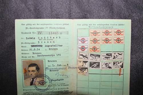 DLV mitglieds-ausweis 1934