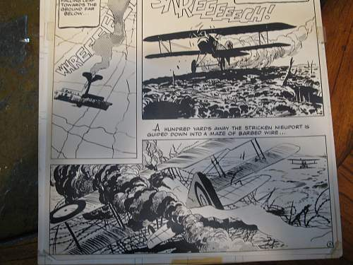 Drawings of WWI dog fight