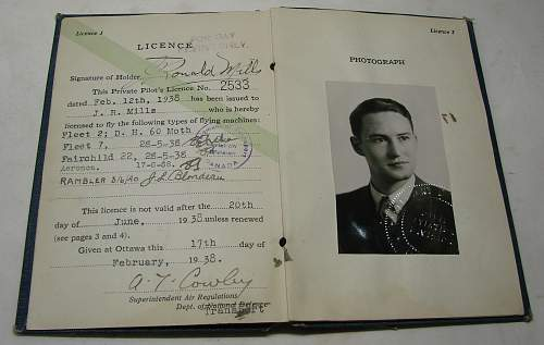 Click image for larger version.  Name:Dad's flying license  1938.JPG Views:83 Size:199.3 KB ID:72310