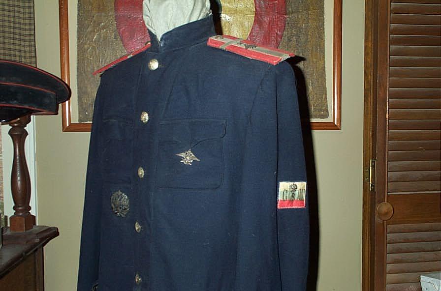 Super Rare 1912 Imperial Russian Pilot Uniform