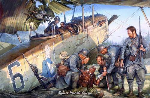 """Painting: """"Highest Possible Courage"""" by John D. Shaw"""