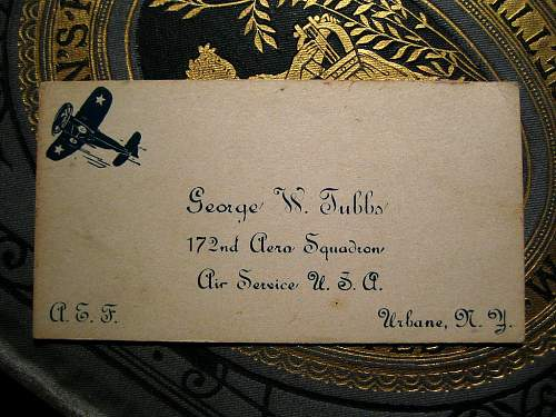WWI Calling Card of George W. Tubbs, AEF