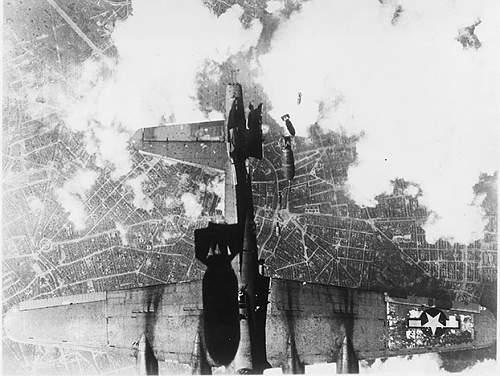 B-24 Bomber Hit by Bomb