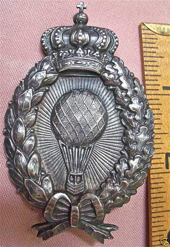 Click image for larger version.  Name:Fantasy Bavarian Balloon Badge Obv..JPG Views:649 Size:121.8 KB ID:80867