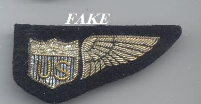 FAKE World War I Allied Forces Bullion & Metal Wings