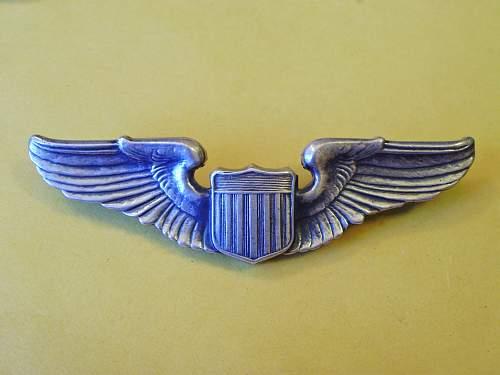 FAKE World War II Allied Cloth, Bullion & Metal Wings
