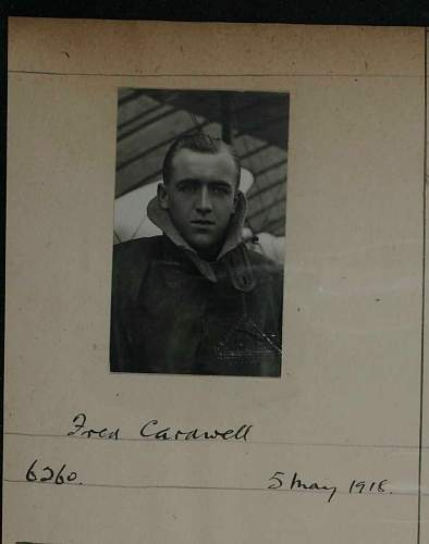 Pilot officer Fred Cardwell info