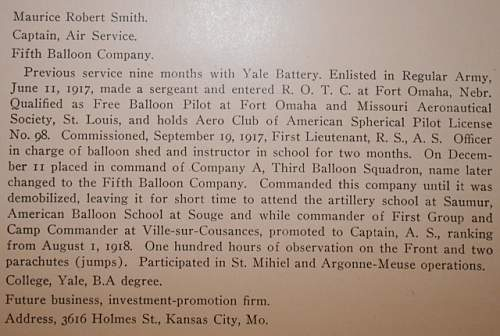 Balloon Pilot / CO of the 5th Balloon Company