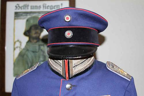 Prussian Dunkelblau 1910 Technical uniform, for flight