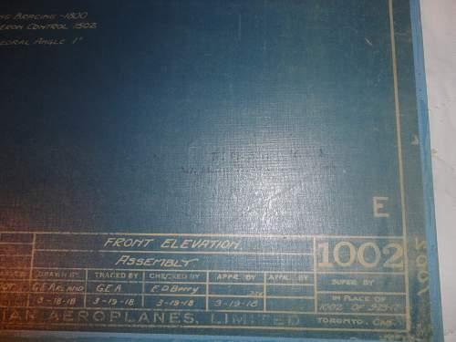Wartime Blue Print for JN 4  Canadian Built