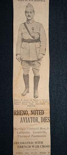 Walter Rheno / Lafayette Flying Corps