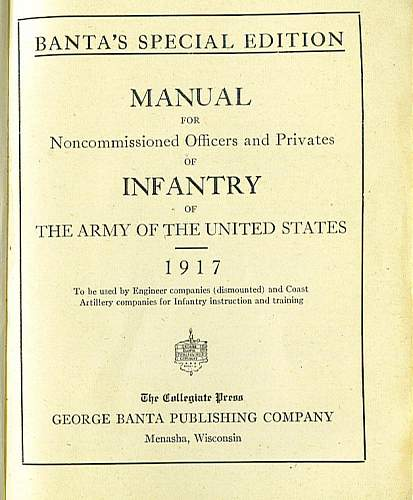 1917 Infantry Manual with an Aviation Connection