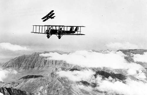 Click image for larger version.  Name:Martin_MB-2_in_flight_with_a_pursuit_aircraft_practicing_an_attack_061219-F-1234S-016.jpg Views:144 Size:186.9 KB ID:92166