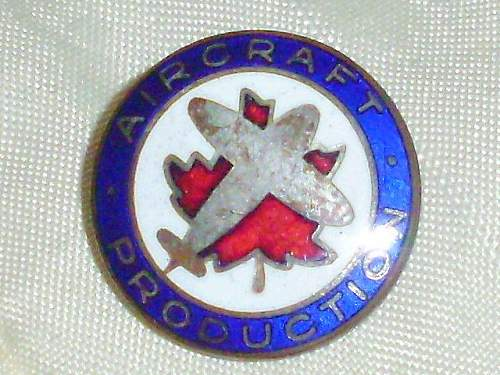 Aircraft Production Employee Badge !