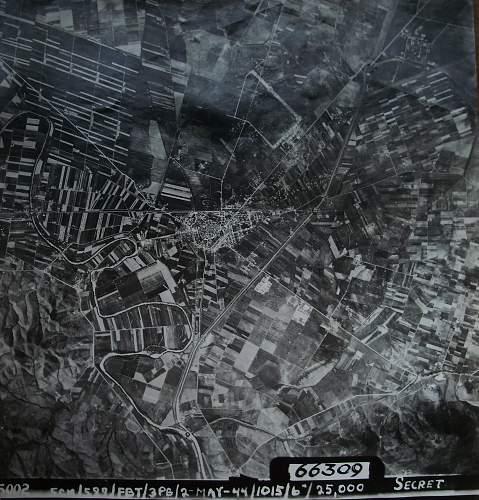 Italian front village aerodrome recce photo  - but where?
