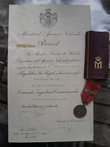 Romanian Crusade against Communism medal