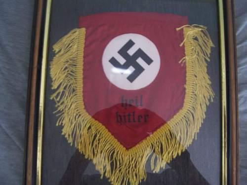 Mini Nazi German flags from Spain?