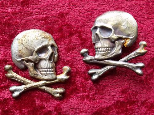 Skull insignia for Spanish Lusitania cavalry regiment
