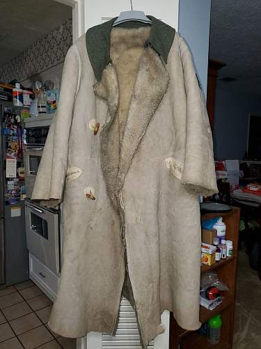 WW2 German Army Eastern Front White fur Long Coat/Major Patch WHAT DO YOU THINK?