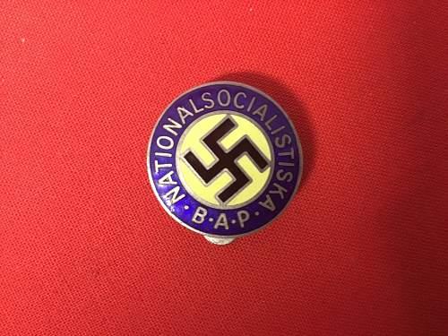 Swedish NSAP members badge ?