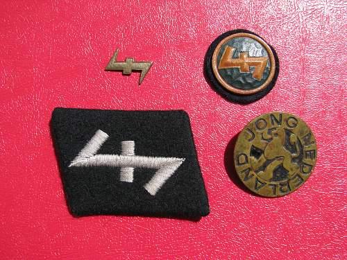My small Dutch NSB/WA/SS collection