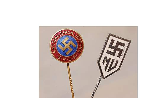 Sweden SNSP party pins
